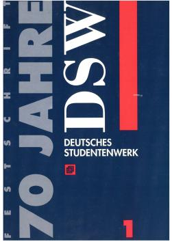 "Cover: ""70 Jahre DSW - Band 1"""