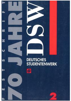 """Cover """"70 Jahre DSW - Band 2"""""""